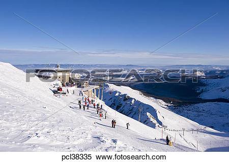 Stock Image of Skiers on slopes of Kasprowy Wierch, Zakopane.