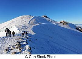 Stock Photography of Kasprowy Wierch in the Western Tatras. Winter.