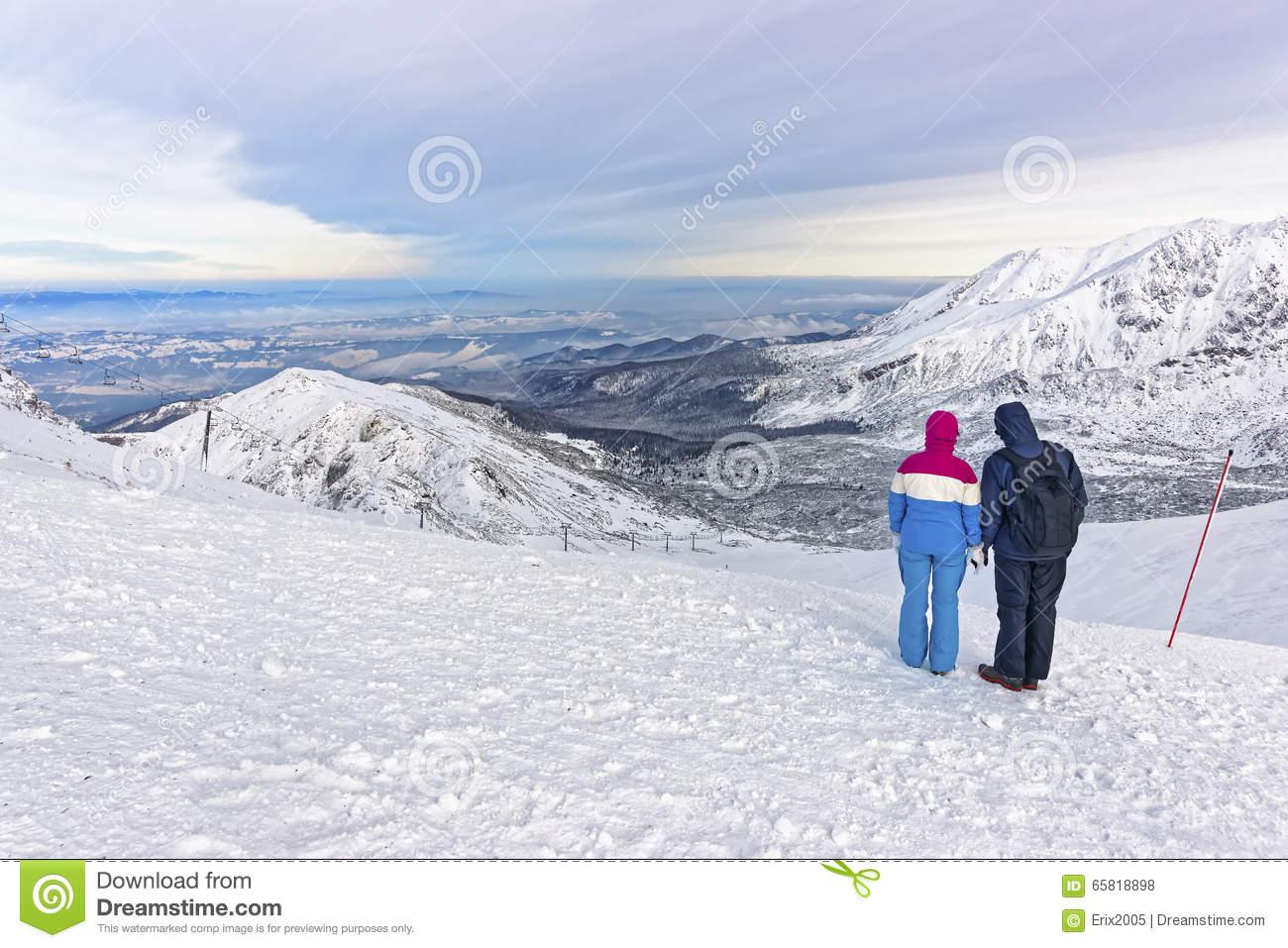 People Looking Into Distance In Kasprowy Wierch In Zakopane On T.