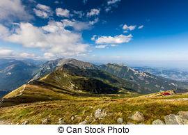 Stock Photo of Alpine mountainscape.