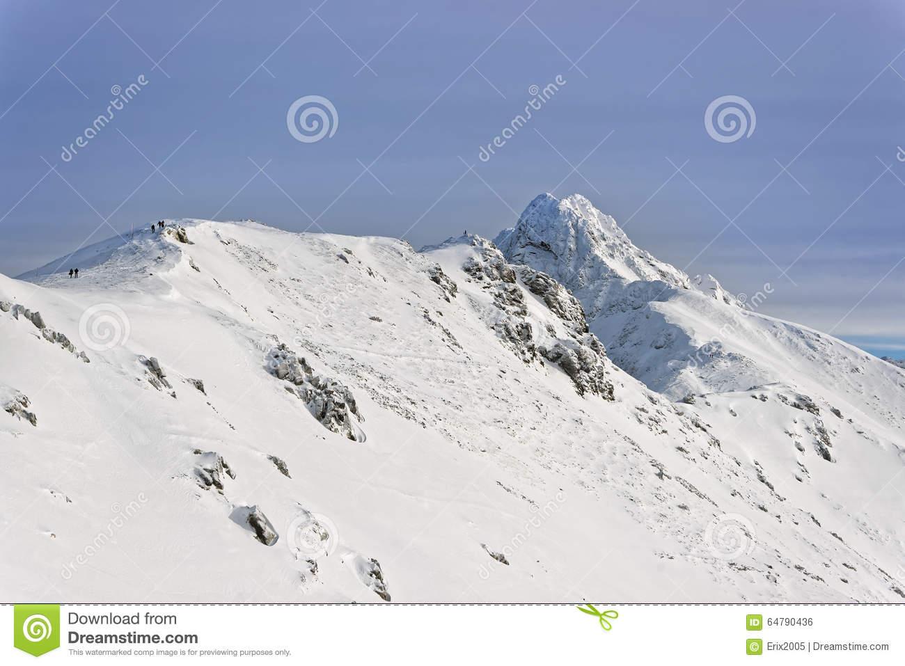 Winter In Tatras, On The Top Of Kasprowy Wierch Stock Photo.