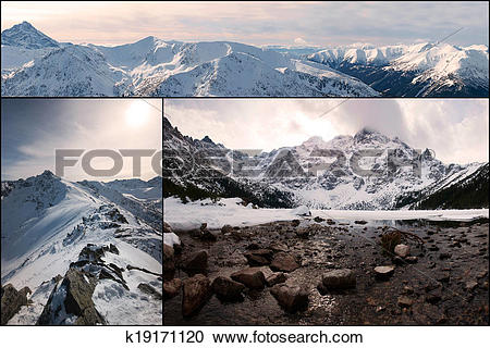 Stock Photography of Mountain Collage, view from Kasprowy Wierch.