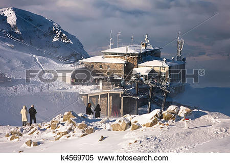Stock Image of Approaching snowstorm at The top station Kasprowy.