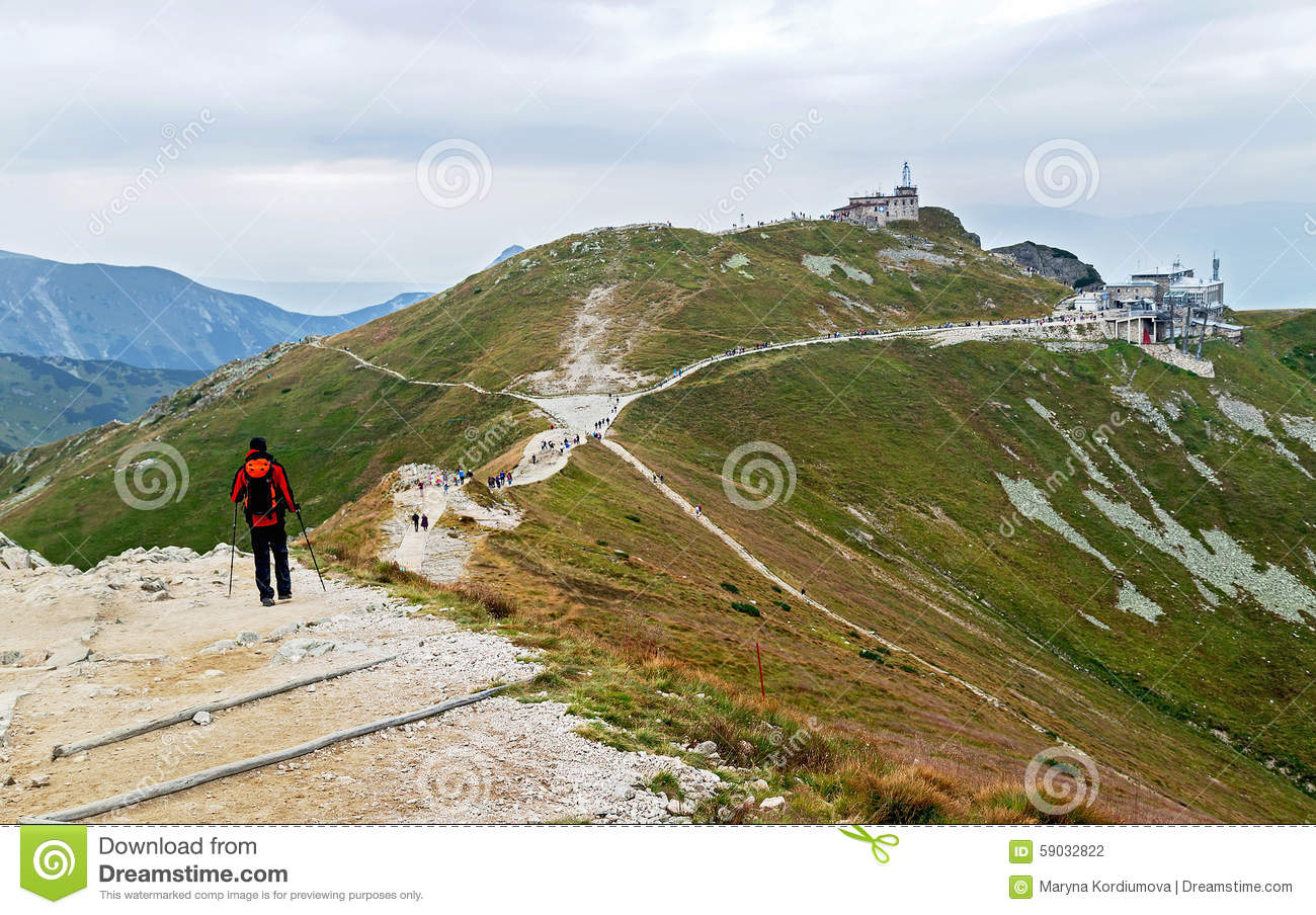View Of The Ski Lift From Kasprowy Wierch Stock Photo.