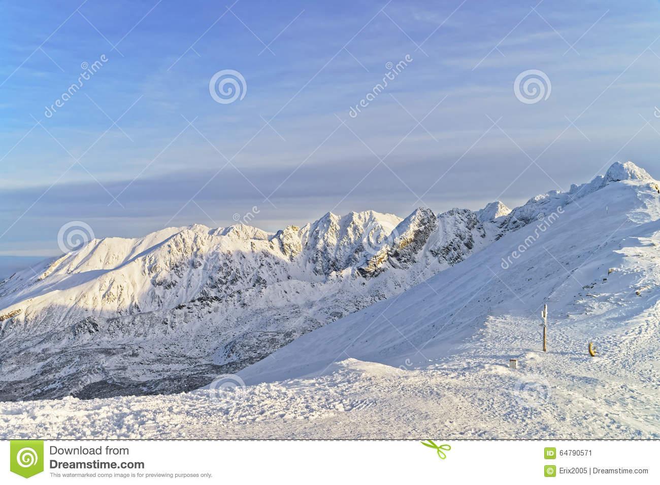 Sunny Weather In Kasprowy Wierch Of Zakopane In Tatra Mounts In.