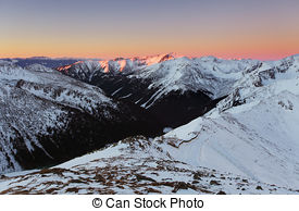 Stock Images of Winter view from the summit of Kasprowy Wierch.