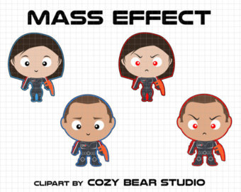 Mass Effect Clipart Garrus Vakarian Legion by CozyBearStudio.