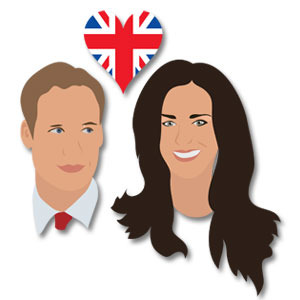 William And Kate vector.