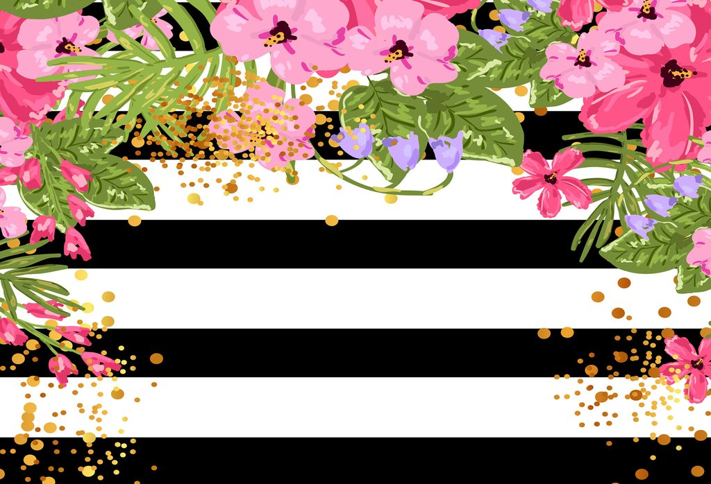 Kate Spade Backdrop Wedding Black And White Striped Background.