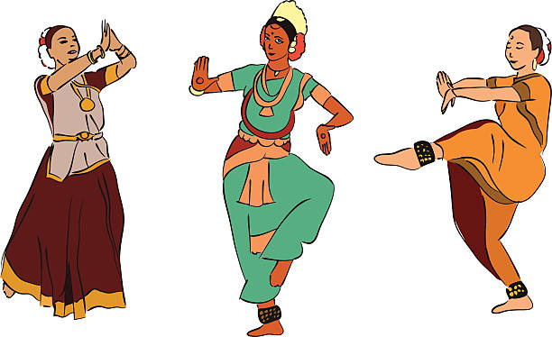 Kathak Dance Illustrations, Royalty.