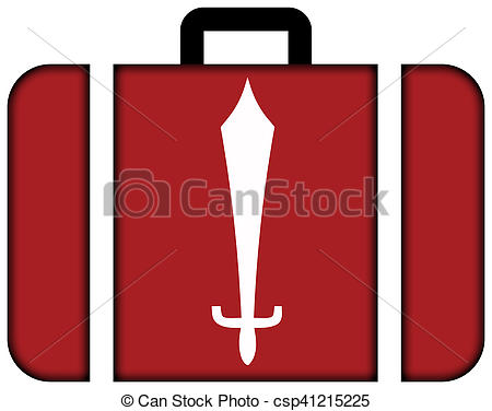 Clip Art of Flag of Kathmandu, Nepal. Suitcase icon, travel and.