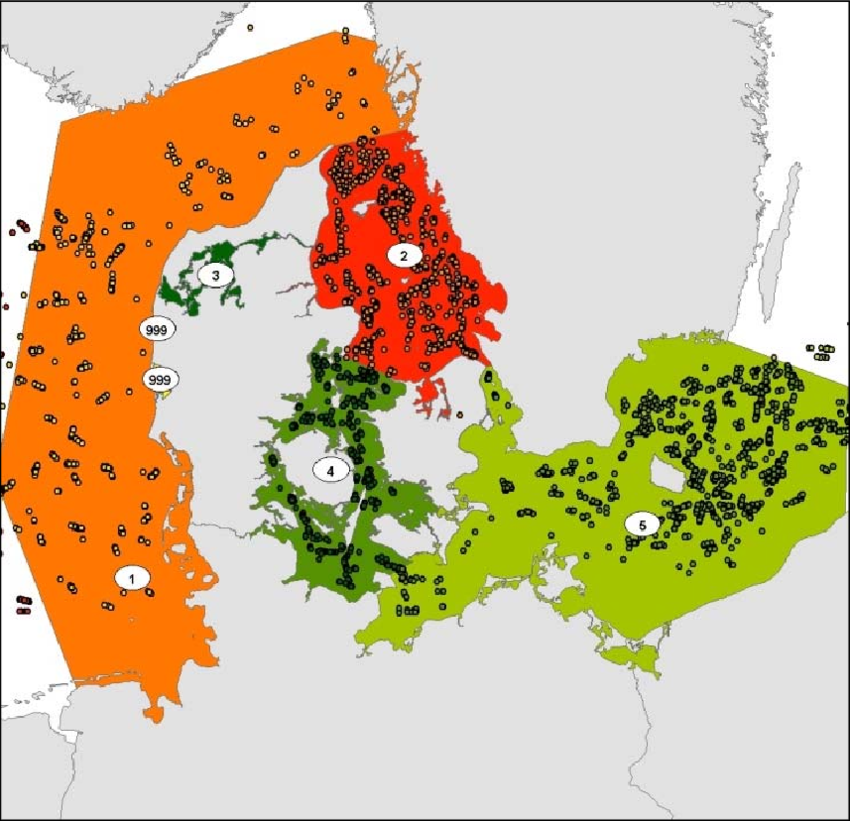 5. Map of fish survey trawls (dots) used in the analysis.