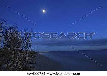 Stock Image of Denmark, Kattegat, Ebeltoft, Baltic Sea, View of.