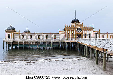 """Stock Image of """"Kallbadhus or cold bath house, built in 1903, on."""