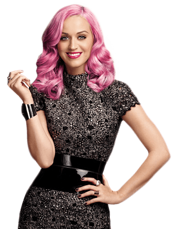 Purple Hair Katy Perry transparent PNG.