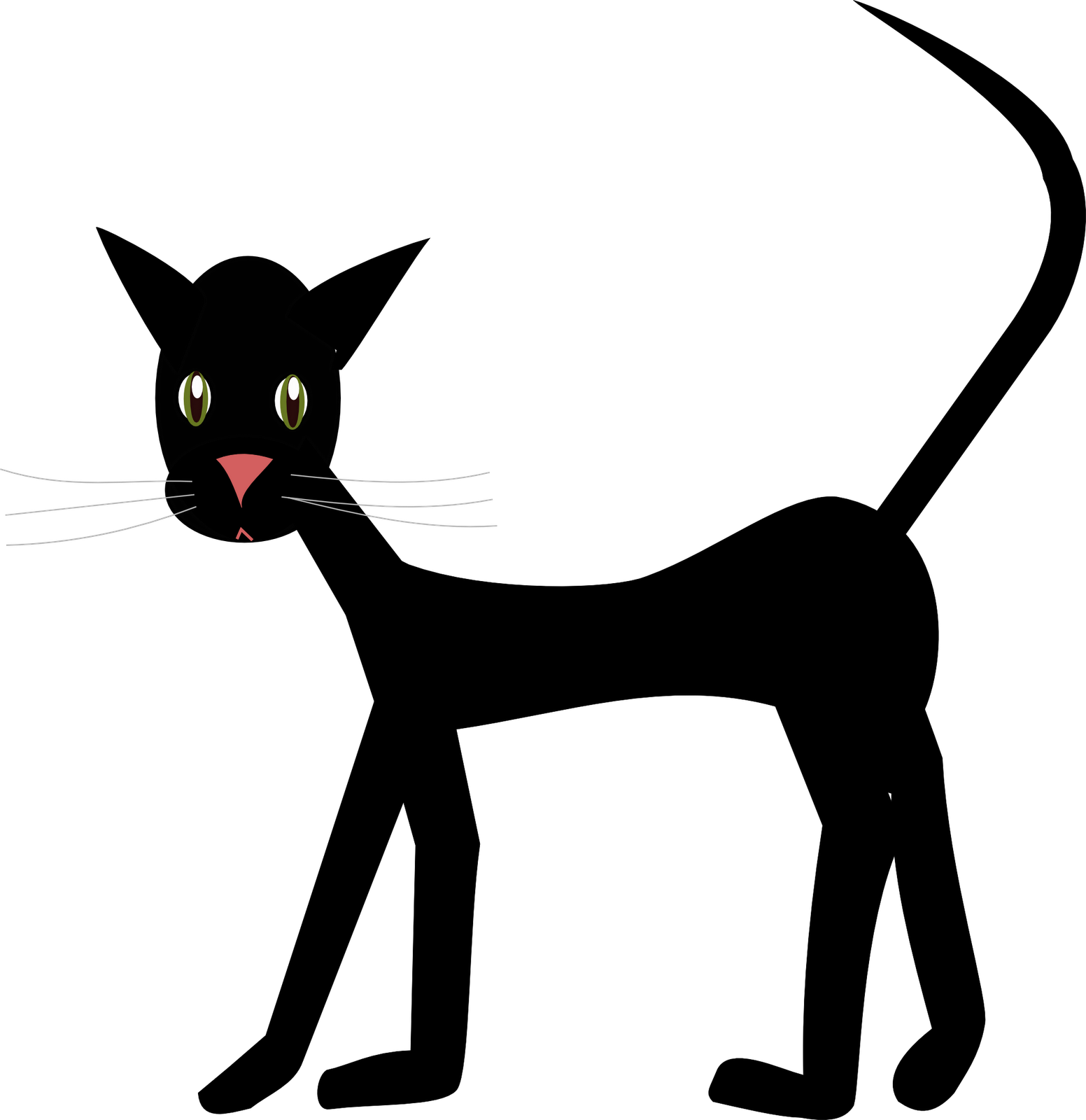 Free Cat Images: free cat doodle clipart graphic.