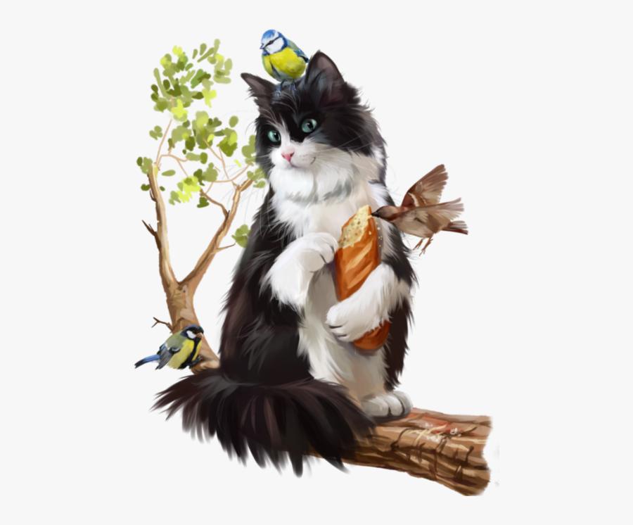 Tuxedo Cat Angel Clipart.