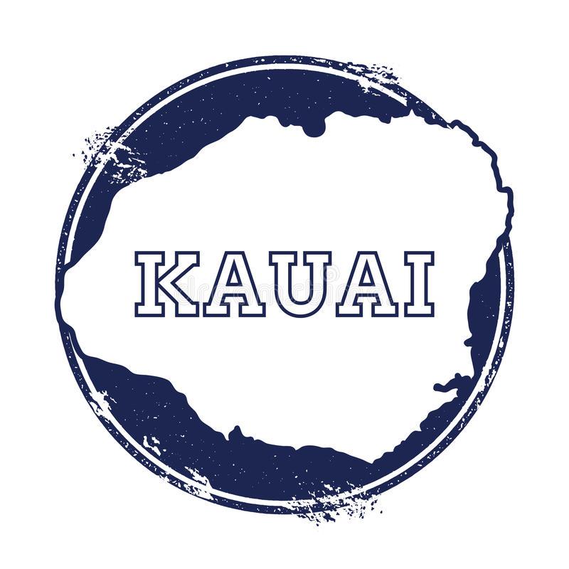 Kauai Map Stock Illustrations.