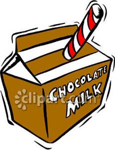 Chocolate Milk Carton Clipart.
