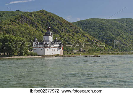 "Stock Photo of ""Burg Pfalzgrafenstein Castle on the Falkenau."