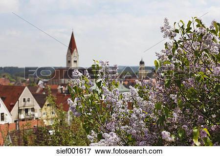 Picture of Germany, Bavaria, Swabia, Allgaeu, Kaufbeuren, View of.