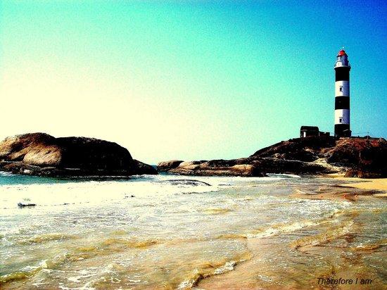 Light tower near kaup beach.