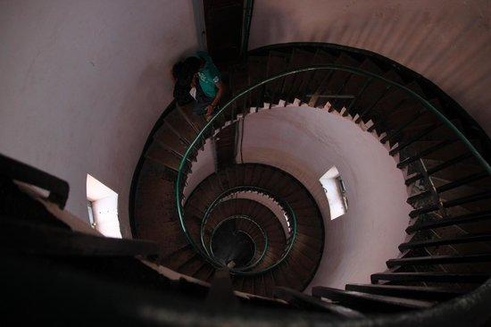 Inside the Kaup Light house.