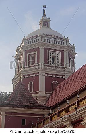 Stock Photography of Shri shantadurga temple in kavlem , Ponda.