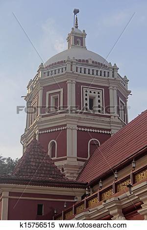 Stock Image of Shri shantadurga temple in kavlem , Ponda , Goa.