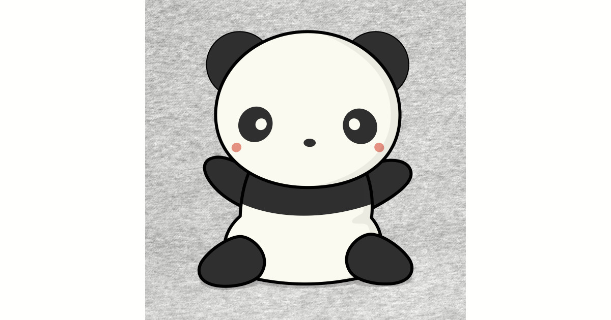 Lovely Cute Kawaii Panda Wants To Hug by wordsberry.