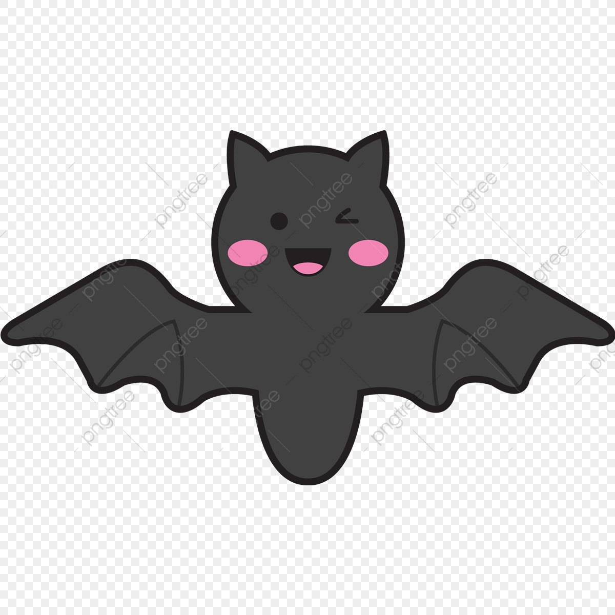 Kawaii Bat, Png, Kawaii, Cartoon PNG and Vector with Transparent.