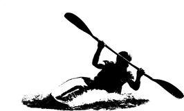 Kayak Stock Illustrations.
