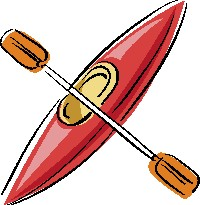 Animated kayak clipart.