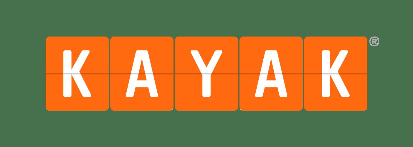 Kayak Logo transparent PNG.
