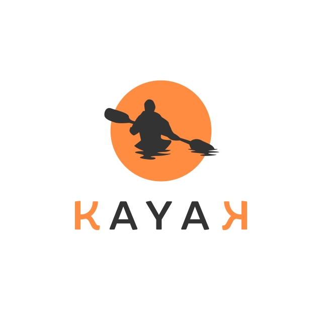 Kayak Logo Inspirations With Sun Background, Canoe, Kayak, Logo PNG.