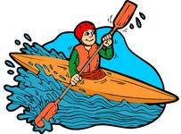 Kayaking clipart free.