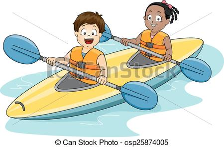 Sea Kayaking Clip Art.