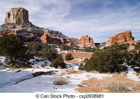 Stock Photography of Winter in Arizona.