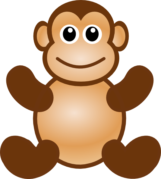 Monkey Face Clipart.