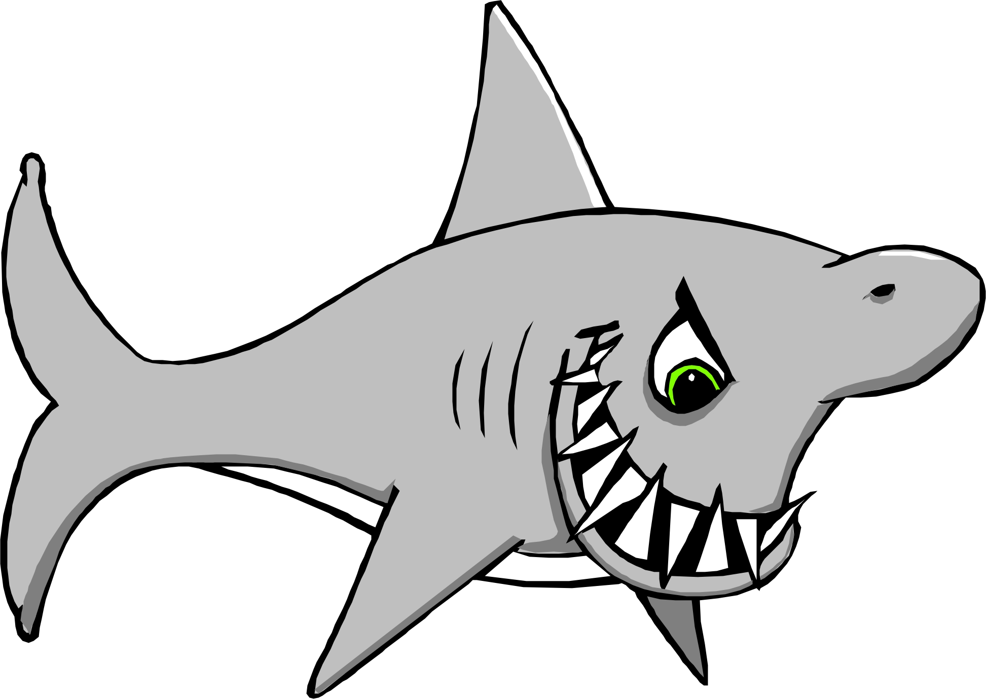 Great White Shark Clip Art.