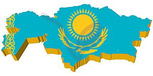 map of Kazakhstan.