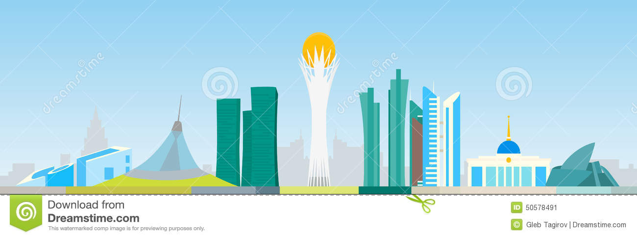 Kazakhstan Stock Illustrations.