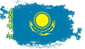Grunge Flag Of Kazakhstan Royalty Free Stock Image.