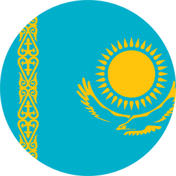Kazakhstan flag clipart.