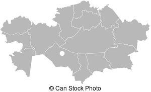Map kazakhstan Vector Clipart Royalty Free. 330 Map kazakhstan.