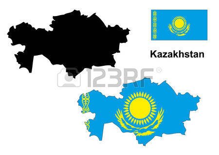 1,282 Kazakhstan Map Stock Illustrations, Cliparts And Royalty.