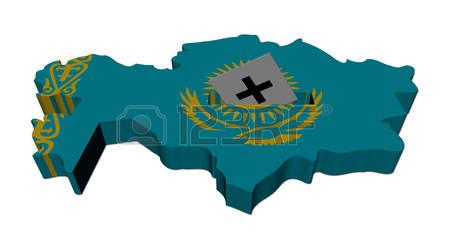 Kazakhstan Map Stock Vector Illustration And Royalty Free.