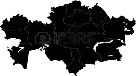 1,212 Map Of Kazakhstan Stock Vector Illustration And Royalty Free.