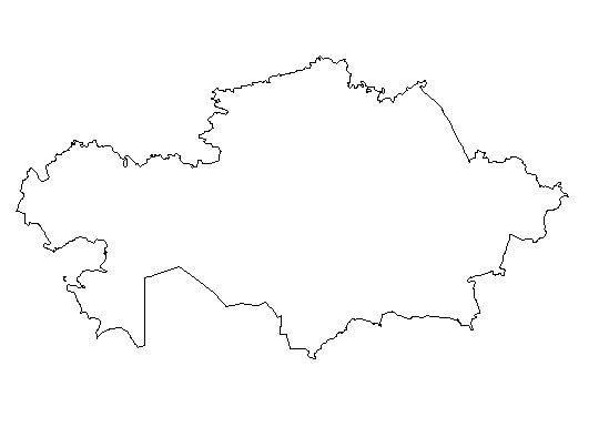 Kazakhstan Map Clipart.