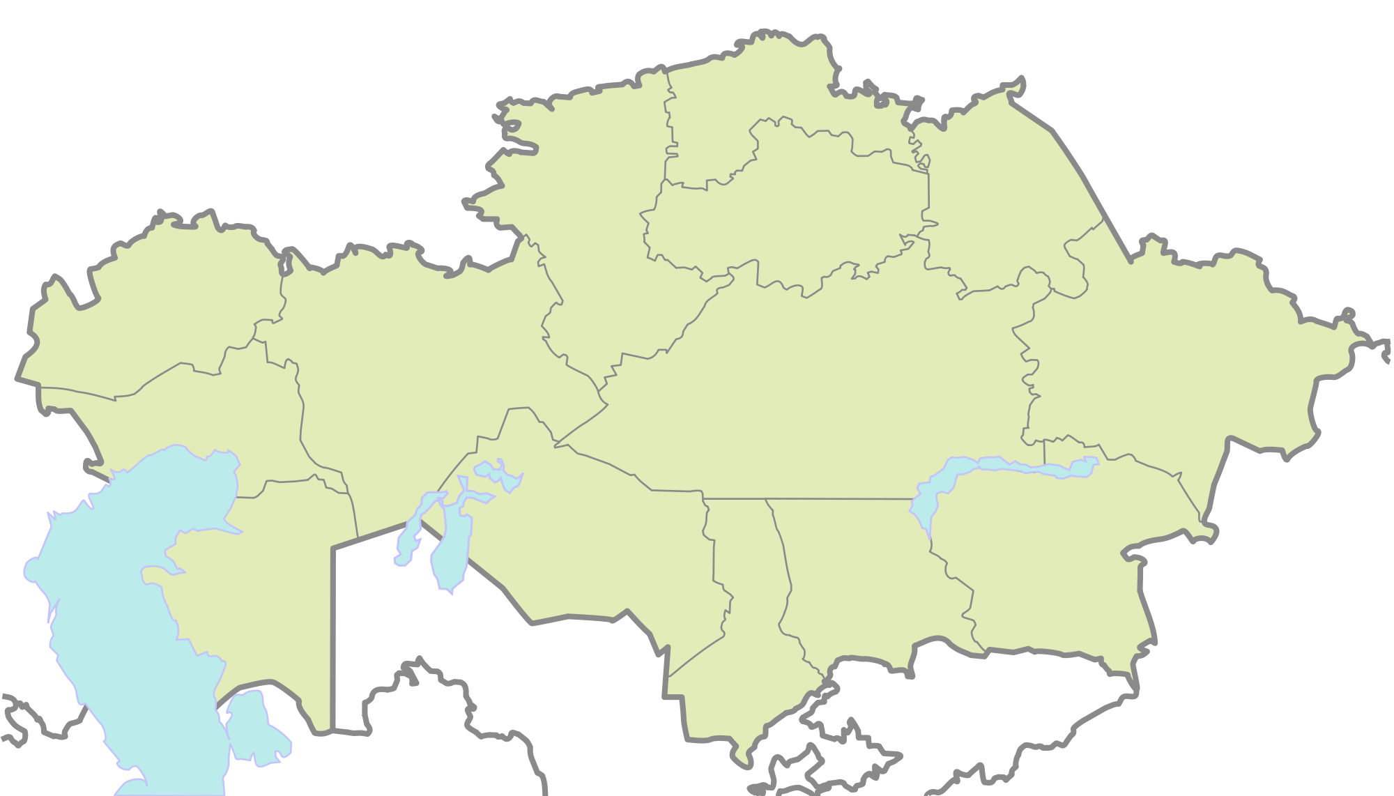 Kazakhstan Blank Map • Mapsof.net.